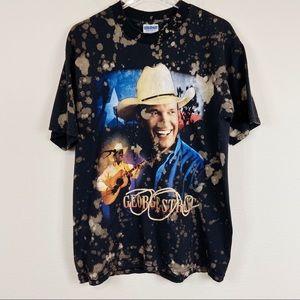 George Straight | Custom Bleached T-shirt Sz L